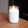 Unscented Candle: 10oz Mason Jar