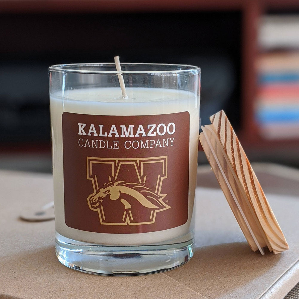 WMU Bronco Candle: 10oz Jar