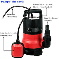 Homdox Sump Pumps Clean Dirty Submersible Water Pump (Red)