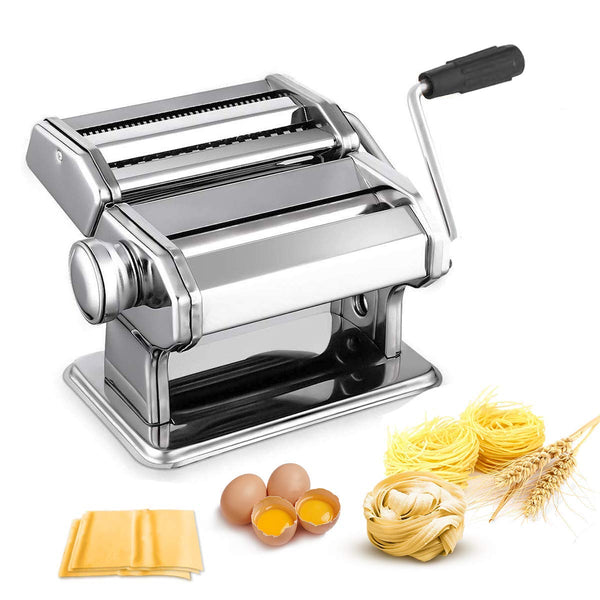 Homdox Pasta Maker Machine Stainless Steel Adjustable Thickness