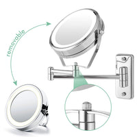 Homdox Magnifying Makeup Mirror Wall Mount 7X Magnification 6 inch