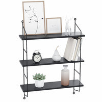 Homdox 3-Tier Shelves Wall Mounted Display Shelf Storage Holder Rack