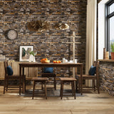 Homdox Stone Wallpaper 3D Faux Brick Contact Wallpaper