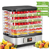 Homdox Food Dehydrator Digital Timer Temperature Control 8 Trays