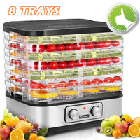 Homdox Food Dehydrator Machine Jerky Dehydrators with 8 Trays