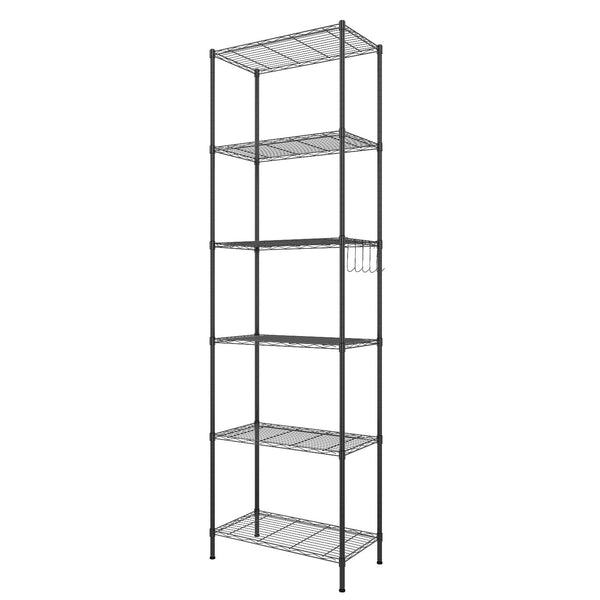 Homdox 6-Tier Storage Shelf Standing Rack Organization