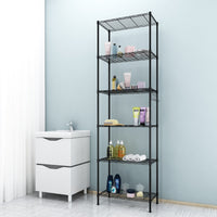 Homdox 6-Tier Storage Shelf Wire Shelving Unit Rack Organization Black