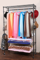Homdox 3-Tier Garment Rack Heavy Duty Clothing Wire Shelving Closet