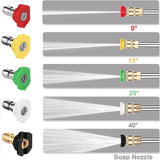 Homdox Electric Pressure Washer Power Washer 2500 PSI 1.6GPM 4 Nozzles