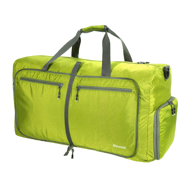 Homdox 80L Duffle Bag Waterproof Lightweight Foldable Camping Bag-Light Green