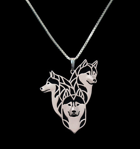 Husky Family Necklace