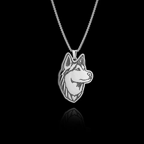 Siberian Husky  One Piece Pendant Necklace