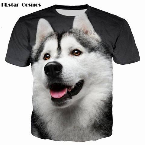 3d shirt men Husky dog
