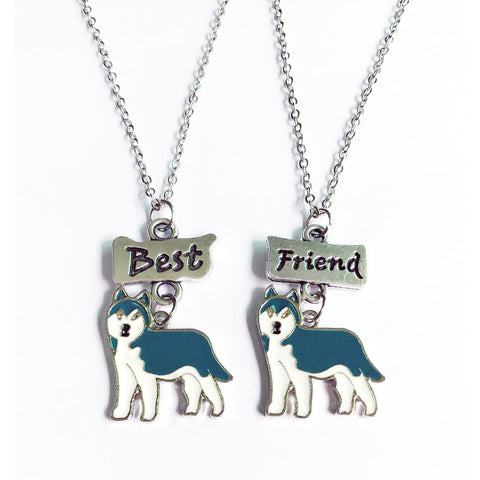 Husky dog charms Best Friends Necklace