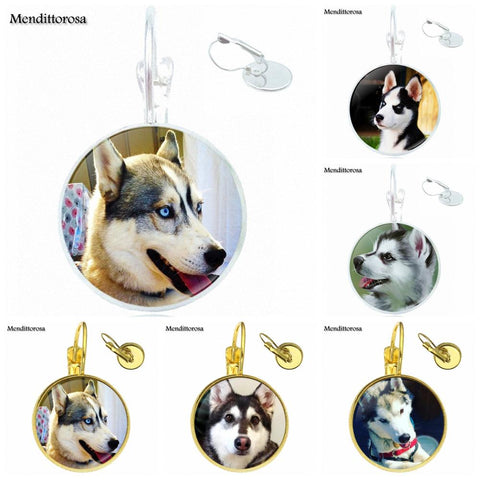 Siberian Husky ears Party Glass Cabochon