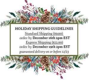 Holiday Shipping Guidelines