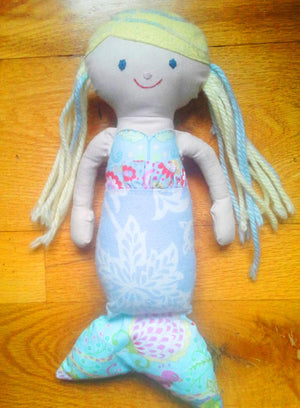 DIY Liberty Fabric Mermaids- a fun present for little ones!
