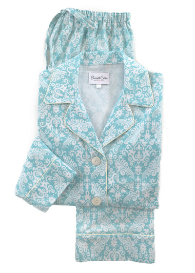 blue-damask-printed-flannel-pajamas
