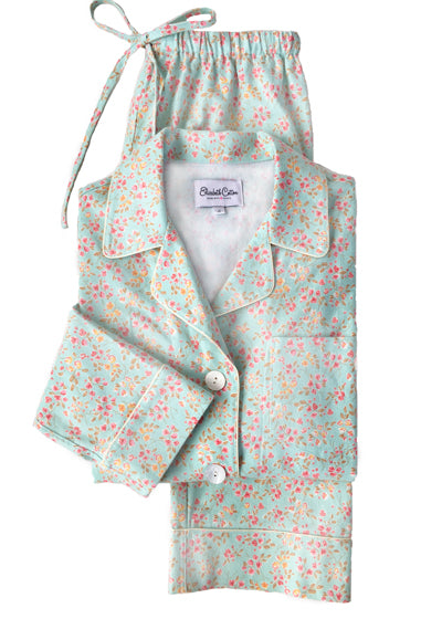mint-bouquet-flannel-pajamas