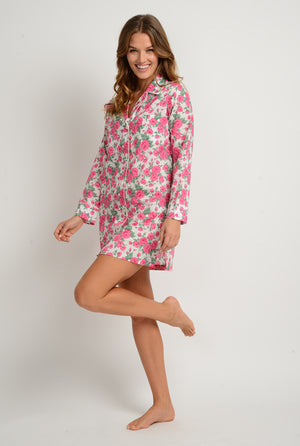 women's luxury cotton nightshirt