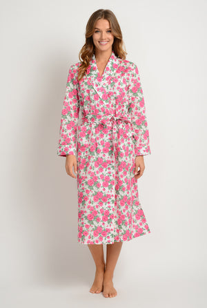 women's lightweight printed cotton robe made in the usa