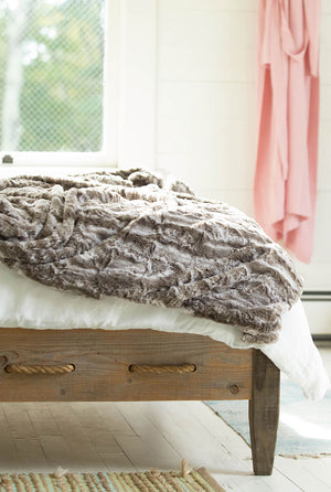 soft faux fur plush throw blanket made in the usa