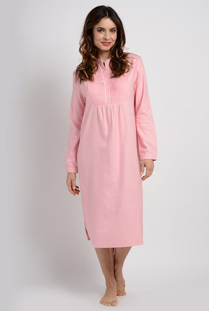 Pintuck Flannel Gown