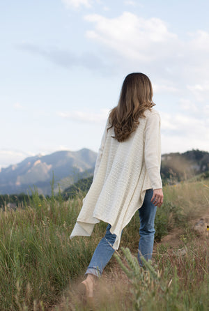 cashmere pointelle cardigan