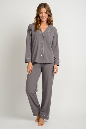 women's organic cotton pajamas sleepwear made in the usa