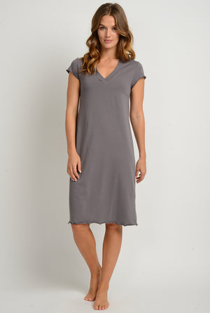 women's organic cotton sleepwear nightgown made in the usa