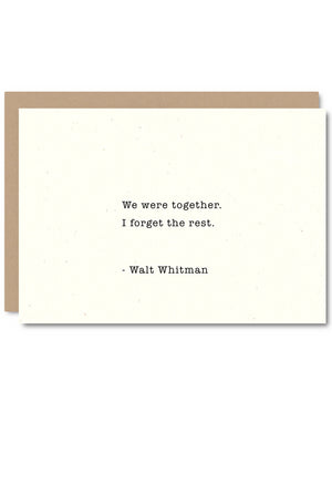 We were together...