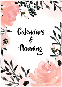 Calendars and Planning Mini-Set (13 Pages)