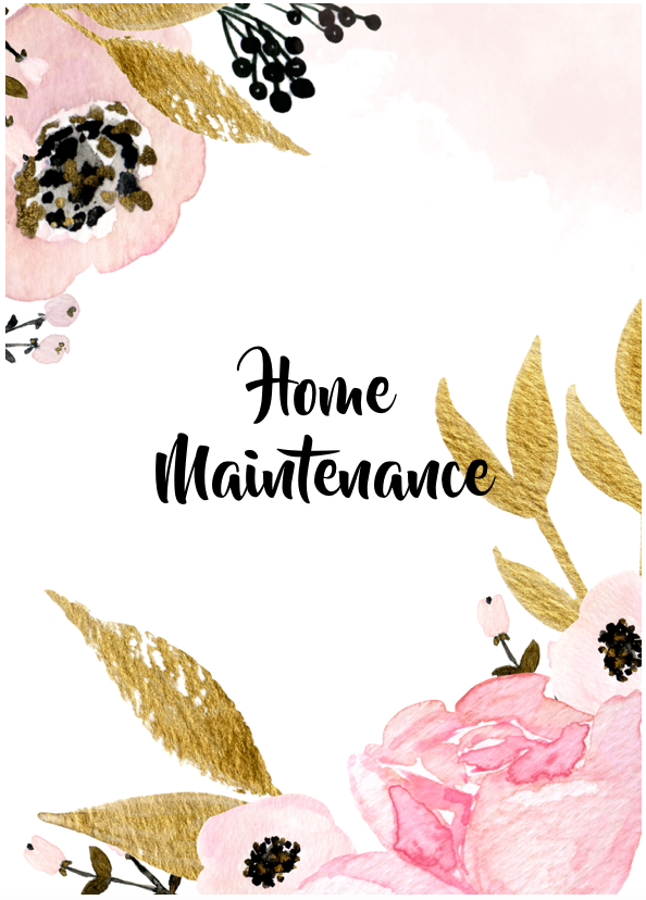Home Maintenance Mini-Set (16 Pages)