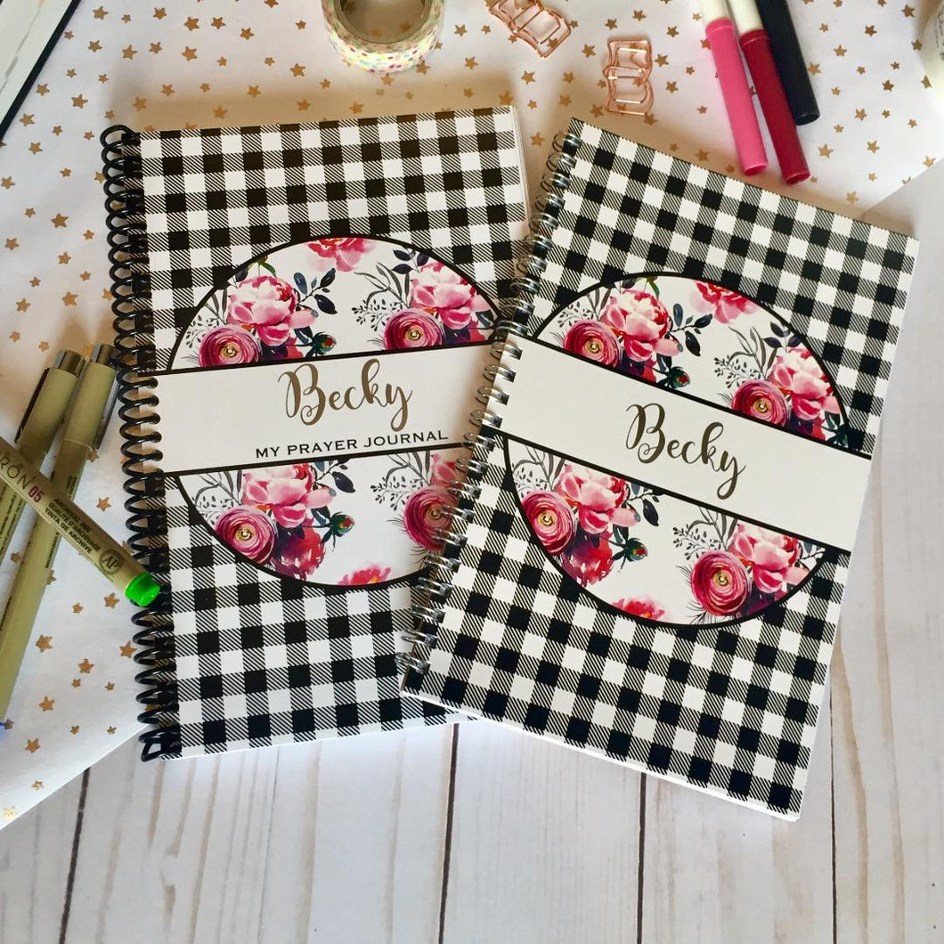 Personalized Prayer Journal and Notebook Bundle
