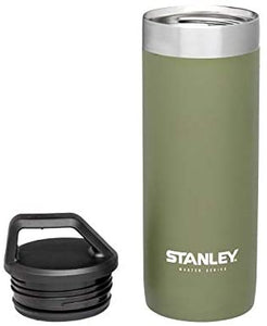 Stanley Master Unbreakable Packable Vacuum Mug 18 ounces (Olive Drab) 10-02661-010 Insulated Ice Drinks Hot Long Duration Long-lasting Travel Handsfree Leak-proof BPA-Free Stainless Steel Old Classic Logo