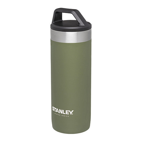 Stanley Master Unbreakable Packable Vacuum Mug 18 ounces (Olive Drab) 10-02661-010 Insulated Ice Drinks Hot Long Duration Long-lasting Travel Handsfree Leak-proof BPA-Free Stainless Steel