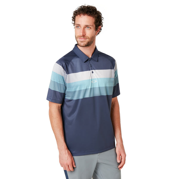 OAKLEY COLOR BLOCK GRAPHIC POLO MEN GOLF POLO SHIRT