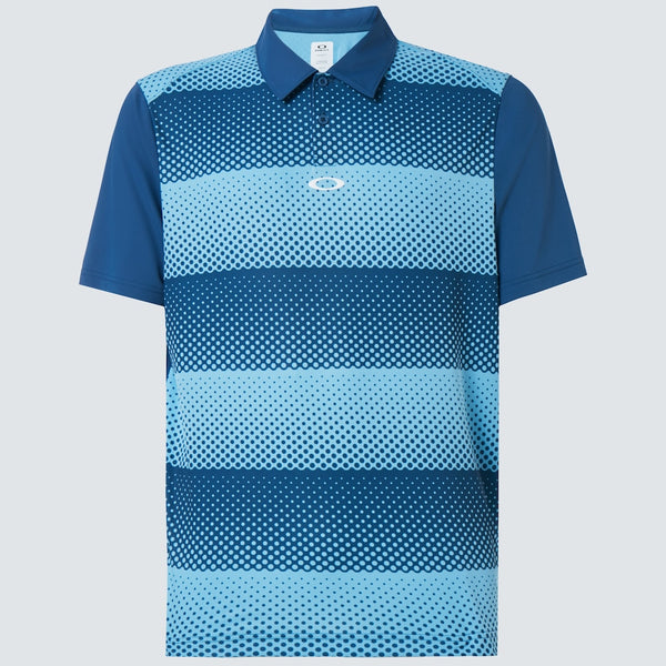 OAKLEY DOT STRIPES POLO MEN GOLF POLO