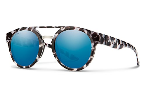 Smith Range Round Sunglasses, Choco Tort Frame ChromaPop Blue Mirror Lens