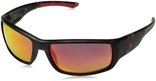 Smith Survey Carbonic Polarized Sunglasses, Matte Camo Frame Polarized Red Mirror Lens