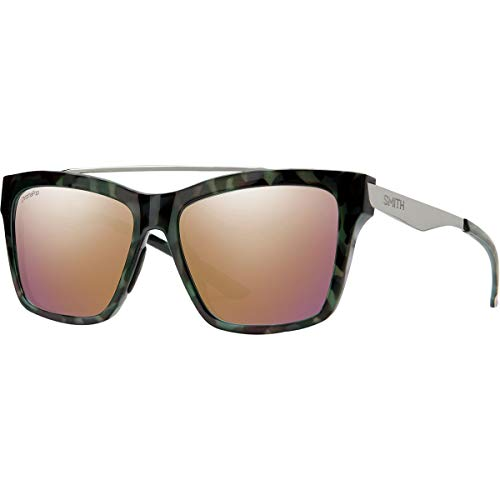 Smith Optics The Runaround ChromaPop Polarized Sunglasses, Camo Tort Frame ChromaPop Polarized Rose Gold Lens
