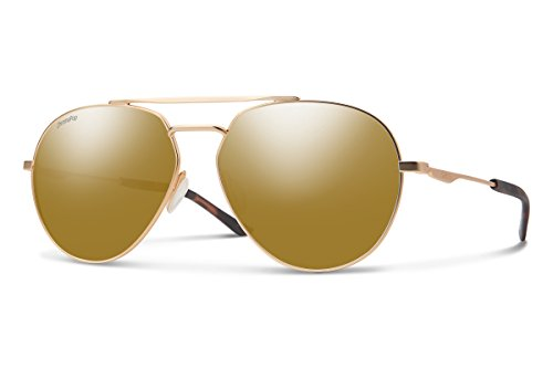 Smith Westgate Chroma Pop Polarized Sunglasses, Matte Rose Gold Frame ChromaPop Bronze Lens