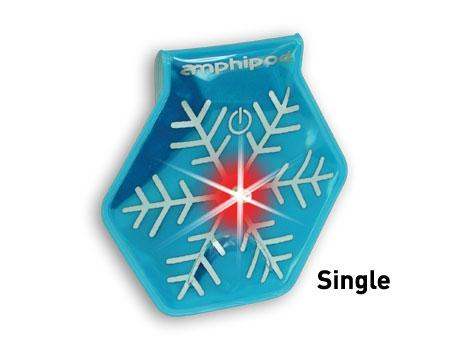 Amphipod Vizlet LED Snowflake Wearable Reflector (Single) - New Day Sports