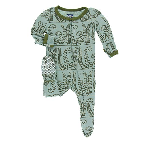 Kickee Pants Bamboo Print Footie with Snaps