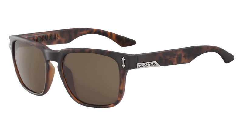 Dragon Alliance Monarch LL Polar Sunglasses, Matte Tortoise Frame LL Brown Polar Lens