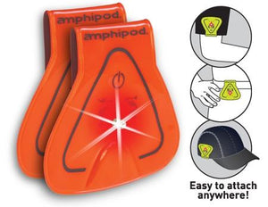 Amphipod Vizlet LED Triangles Wearable Reflectors (2 Pack) - New Day Sports