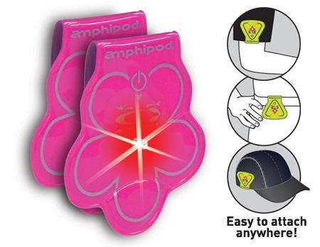 Amphipod Vizlet LED Flowers Wearable Reflectors (2 Pack) - New Day Sports