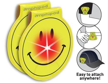 Amphipod Vizlet LED Smileys Wearable Reflectors (2 Pack) - New Day Sports