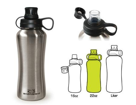Amphipod PURErun Stainless Steel Bottle (22 oz.) - New Day Sports