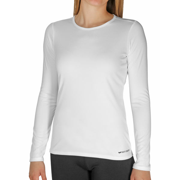 Hot Chillys Women's Peachskins Solid Crewneck